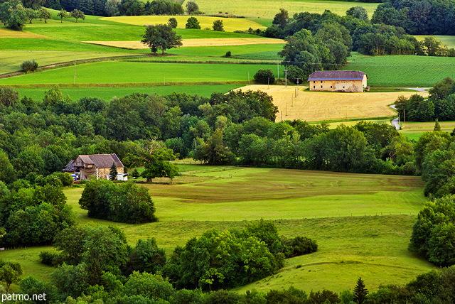 Photos de paysages ruraux  Paysage de bocage dans la