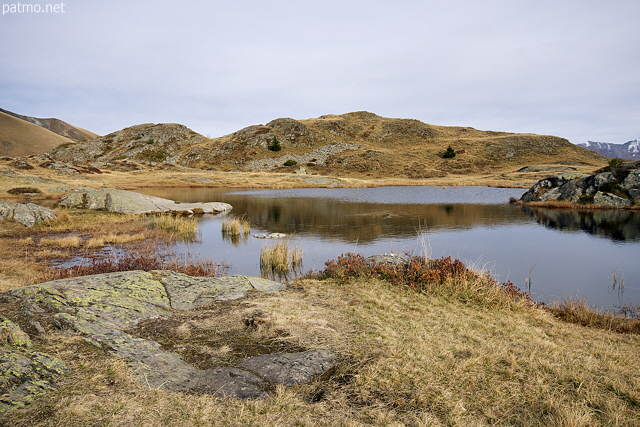 Picture of Potron lake in the french Alps, just under Croix de Fer pass