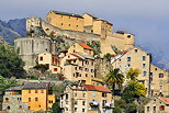 Photograph of Corte citadel and old city in North Corsica