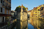 Picture of Palais de l'Isle monument on Thiou river in old Annecy