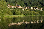Photograph of Saint martial village and lake in Ardeche