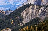 Image of eroded mountains in Villards Valley