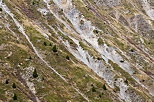 Photo of eroded slopes in the french Alps. Savoie department, Maurienne area.