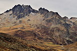 Image of autumn on the mountains around Col du Glandon