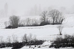 Image with winter mist and snow in Chaumont Haute Savoie