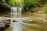 Picture of Herisson river and Gour Bleu waterfall in french Jura