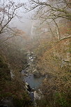 Image of the canyon of Fornant river in the winter mist