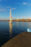 Photo of the famous diving tower of Imperial beach in Annecy