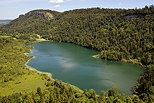 Photograph of Bonlieu lake in french Jura