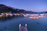 Picture of summer dusk on lake Annecy