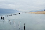 Picture of a winter day on lake Bourget