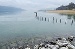 Photograph of Bourget  lake in winter between Chambery and Aix les Bains