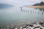 Photo of lake Bourget between Aix les Bains and Chambery
