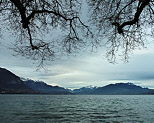 Image of the autumn mood on Annecy lake