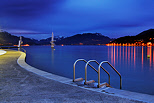Photo of Imperial beach on Annecy lake at blue hour