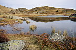 Picture of lake Potron in autumn just near Col de la Croix de Fer