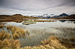 Image of Guichard lake and Aiguilles d'Arves mountains in autumn