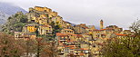 Panoramic image of the city and citadel of Corte in North Corsica