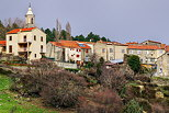 Photo of Vezzani village in the mountains of North Corsica