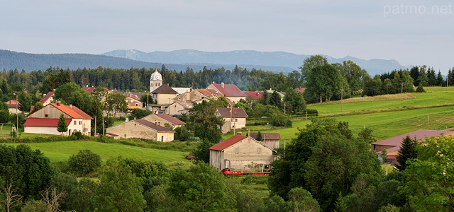 Image of Chateau des Pres village if french Jura