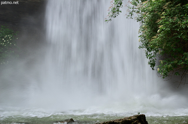 Picture of big water in Dorches waterfall after several storms