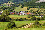 Image of a rural landscape in Massif des Bauges Natural Park around La Compote village