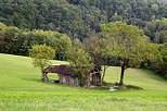 Image of an old barn in the french countryside