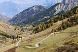Picture of the mountain road going to Col du Glandon