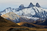 Image of Aiguilles d'Arves mountains under an autumn light