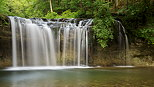 Photo of Gour Bleu waterfall on Herisson river - French Jura