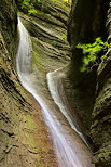 Photo of a double waterfall in Castran canyon