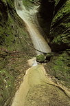 Photo of a waterfall in the little Castran canyon
