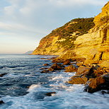 Image of a morning light on the mediterranean sea at Bau Rouge beach