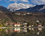 Picture of Talloires bay on Annecy lake by a springtime afternoon