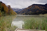 Picture of autumn in Bellevaux around lake Vallon