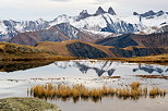Photo of the autumn around lake Guichard and view on Aiguilles d'Arves mountains