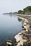 Photo of the coast of Geneva lake in Thonon les Bains