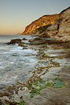 Image of the morning light on the mediterranean coast at Bau Rouge beach in Carqueiranne