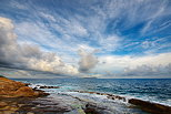 Photograph of beautiful clouds over the Mediterranean sea at Carqueiranne in Provence